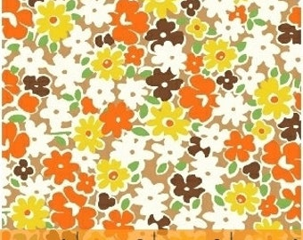 FABRIC FEEDSACK AUTUMN Fall Floral reproduction by Windham