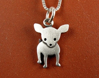 Tiny chihuahua necklace / pendant