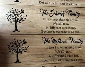 Wood Signs, Personalized, Family, Grandchildren, Wedding, Love Story, FREE Local Pickup
