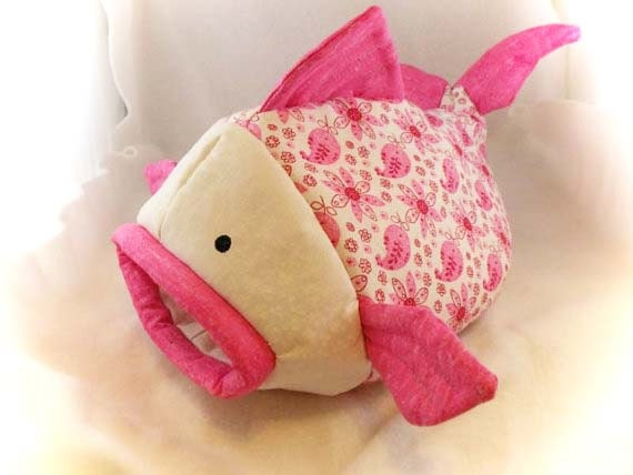 Pink Paisley Fishie Fish Snuggle Sleep Sack Bed for Hedgehogs and Pocket Pets