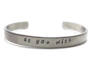 As You Wish Customizable Hand Stamped Cuff Bracelet