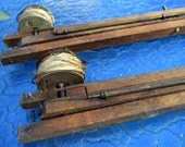 Antique Ice Fishing Tip Ups- Hudson Bay Fishing Tackle- Wood Brass Tip Up Rig- Vintage Rod and Reel Collector- Fishing Pole Collectible
