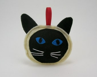 Siamese Cat Christmas Ornament with Blue Eyes  // Holiday Ornament // Wonderful Gift for the Pet Lover