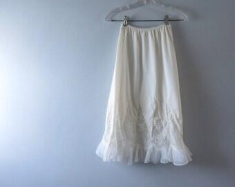 1950s Palest Ivory Bridal Half Slip S