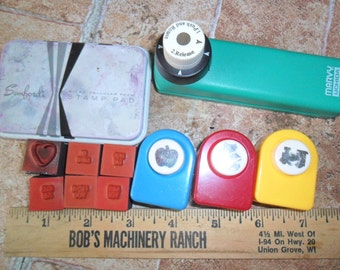 Vintage lot of 10 pc Stampin' Up & assorted Paper Punches