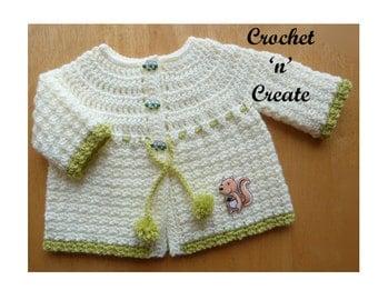 Woodland Newborn Coat Baby Crochet Pattern (DOWNLOAD) CNC10