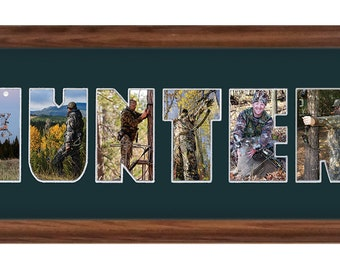 Custom Photomat Frame/Bow Hunter Photo Collage 8x26 (mat only)
