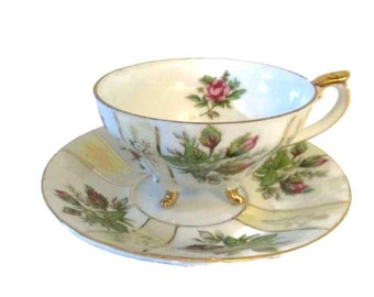 Moss Rose Trinmont Ware cup and saucer - Japan - Mid century - Transferware