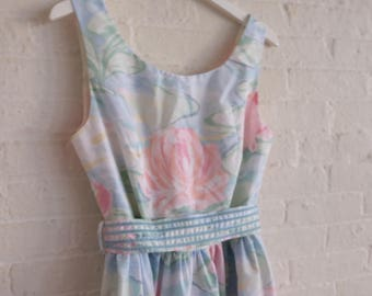 Tea Dress { water lily } size 12-14 / On Sale