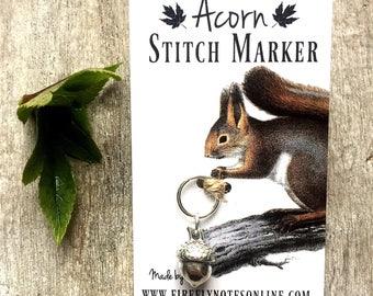 Acorn stitch marker, 12 mm snag free
