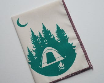 Organic Cotton Hanky Camping Tent Handkerchief Mens Hankie Wedding Favor Hankerchief