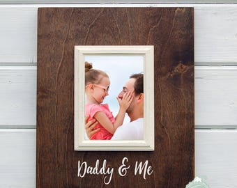 Fathers Day Gift, Personalized Daddy Gift, Daddy and Me, 5x7 Frame, Dad Gift, New Baby Gift, Gift for Daddy, New Dad Gift