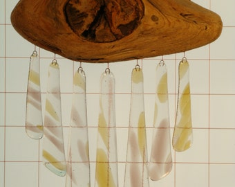 WIND CHIMES, stained glass-Tinkly Winkler