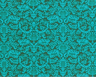 """Amy Butler PWTC033 Fanfare Pine Tonal Blender  Floral True Colors BTHY Half Yd 18"""" Freespirit Quilting Quilt Sew Sewing Fabric"""