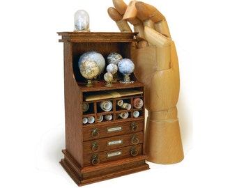 Miniature Map and Globe Cabinet