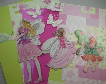 Collage Kit, Fairies Dolls, for Junk Journals, Collage Art, Smash Books,