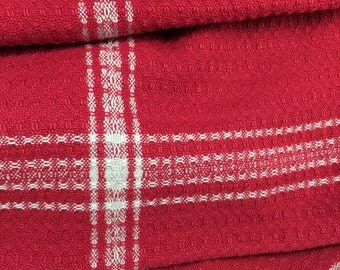 Handwoven Dishtowel - Berry Red