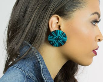 Wholesale jewelry, Wholesale earrings, Fabric covered button earrings, Favors, African fabric earrings, Bulk discount, Boutique stockist
