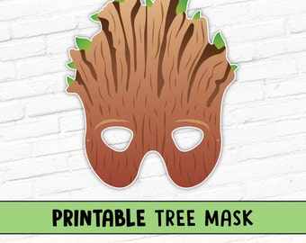 Tree Printable Halloween Party Mask   Groot Mask   Ent Mask