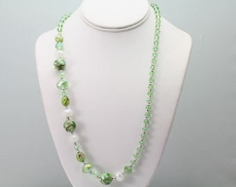 Glass /Acrylic Necklace. Listing 507575501