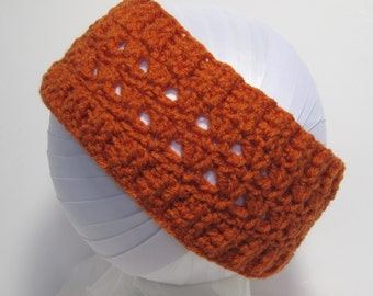 Pumpkin Headband, Orange Headband, Pumpkin Ear Warmer, Crochet    Ear Warmer, Crochet Headband, Orange Crochet, Orange Crochet Ear Warmer