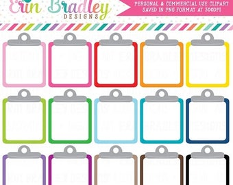 50% OFF SALE Clipboard Clipart Graphics Personal & Commercial Use Note Paper To Do List Clip Art