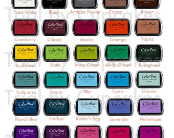 Add a ColorBox ink pad to any stamp order in your choice of color- ADD-ON item ONLY
