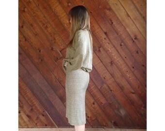 extra 30% off sale . . . Dot Print High Waist Pencil Skirt - Vintage 80s - XS