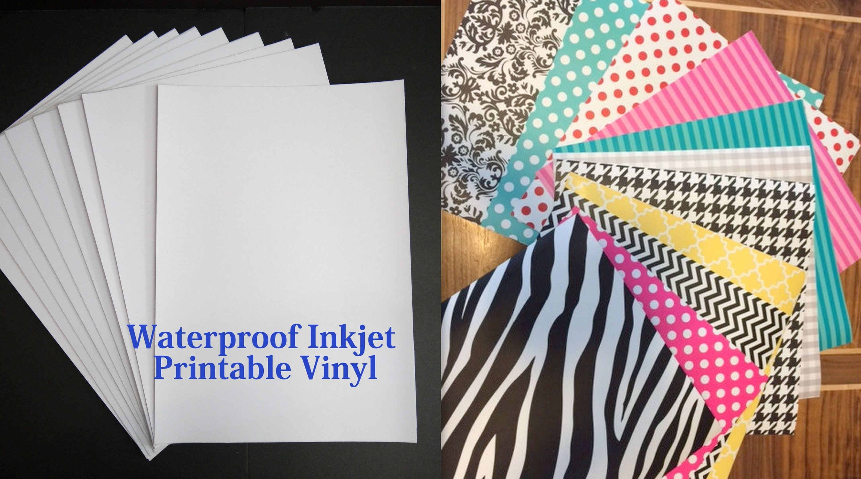 Inkjet Printable Vinyl Sheets Create Your Own Printed