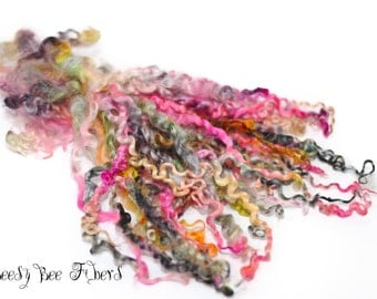 Teeswater Hand Dyed Selected Wool Locks Felting, Spinning, Weaving No. 3 - 1 oz