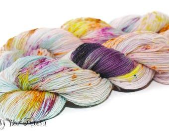 MERMAID'S DREAMS - Hand Dyed Sock Yarn Fingering Weight - 420 yards approx. SW Merino/Nylon knitting, crocheting, weaving yarn