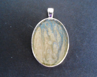 Blue & Cream Pendant - Small