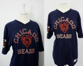 Vintage NFL Chicago Bears Sports Jersey Large Tee Short Sleeve Champion Large Made in USA | Football Sports Fanatic