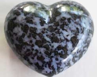 "3"" Indigo Gabbro Hefty Puffy Heart for those who seek truth to alleviate suffering in the world."