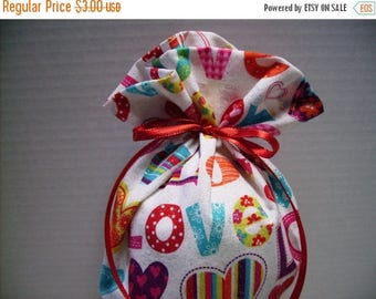 ON SALE Valentines Day Gift Bag Love Hearts Glitter