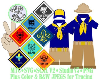 Boy Scouts Bundle Cut Files MTC  SCAL SVG and more File Format
