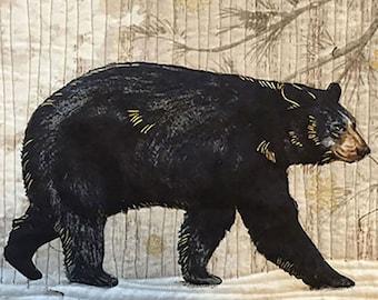 Bear Art - Bear Quilt - Wildlife Art - Wildlife Quilts - Animal Art - Animal Artwork - Animal Quilt - Animal Wall Art -Animal Wall Decor