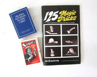 Magic with Cards Adams Trick Playing Cards in box Complete Deland Svengali Magic Cards Retro 1970s Party Game