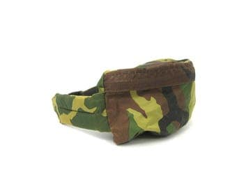 Vintage CAMO Fanny Pack Unisex Waist Purse Tote COED Purse green Camouflage Jogging Purse Bag Hipster Grunge PUNK Bicyle Bag