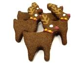 Dog Treats -Reindeers - All Natural Dog Treats Organic Vegetarian - Shorty's Gourmet Treats