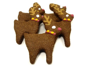 Dog Treats -Reindeers - All Natural Dog Treats Organic Vegetarian - Shorty's Gourmet Treats