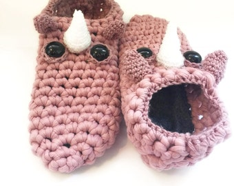 Pastel Pink Unicorn Slippers // Size Medium (US Women's 7-8) // Animal House Slippers