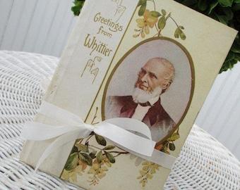 Vintage Book * Booklet * Whittier * Victorian * Antique * Pansies * c1908