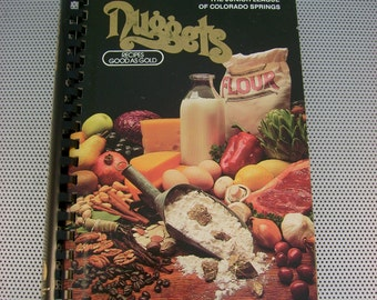 "Vintage 1983 ""Nuggets"" Cookbook, Junior League of Colorado Springs, Colorado"