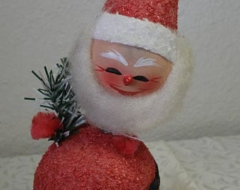 """SPRING SALE 10"""" Paper SANTA Candy Container us zone Germany , Bobble Head"""