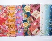 Scrap / Japanese Fabric - Kimono Print 6 pieces (888)