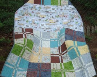 Camper Trailer Lap Quilt Baby Quilt