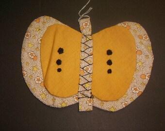 Cute Vintage Pot Holder - Vintage Fabric