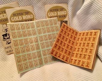 Vintage Lot ofGold Bond Stamps stamp books paper