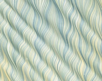 Marbled Paper with Spanished Gel-Git Pattern Featuring Red Ochre, Green, Blue-Grey, and French Yellow Ochre